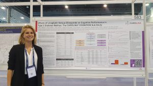 Chloe Verhagen presents results of the CAROLINA cognition study at EASD in Barcelona